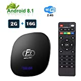 Android TV Box ESHOWEE 2G+16G A95X F1 2020 El más Nuevo Smart TV Box Avec Quad-Core Chipset 64bit Cortex-A53 4K Ultra HD TV Box Android 8.1CPU S905W WiFi 2.4GHz USB 2.0 Reproductor Multimedia