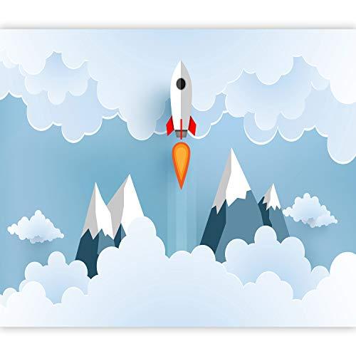 murando Fototapete Kinderzimmer 400x280 cm Vlies Tapeten Wandtapete XXL Moderne Wanddeko Design Wand Dekoration Wohnzimmer Schlafzimmer Büro Flur für Kinder Rakete Jungen e-B-0038-a-a