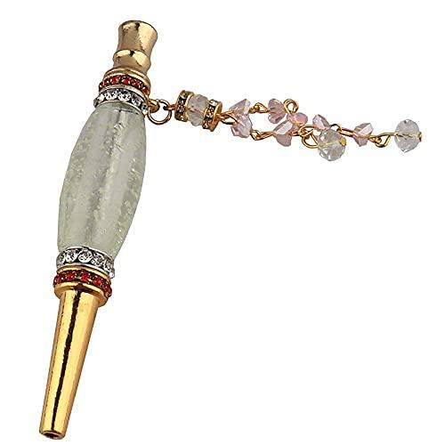 N\C Extremidades de la Boca de la cachimba con Diamantes de imitación Aleación Luminosa y Colorida Boca de la cachimba Diamante Árabe Narguile Boca de la Manguera Porta Cigarrillos, E LKWK
