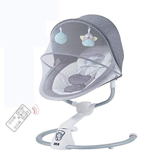 SHARESUN Babywippe, Babyschaukel und -Sitz, 5 Schaukelt Geschwindigkeiten Baby wippe elektronisch, 12 Melodien...