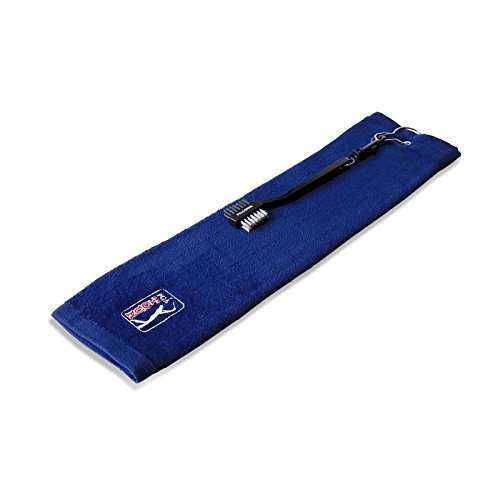 PGA Tour Handtuch- und Bürstenset Towel Clip & Club Brush, Blue