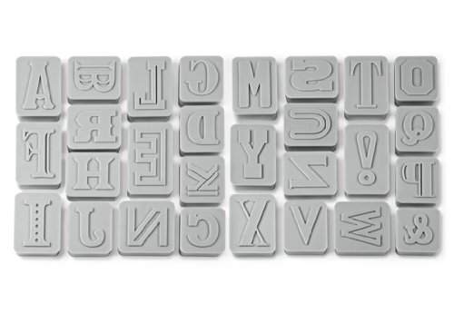 Genuine Fred LETTER PRESSED Type-Style Cookie Cutter/Stampers, Set of 28