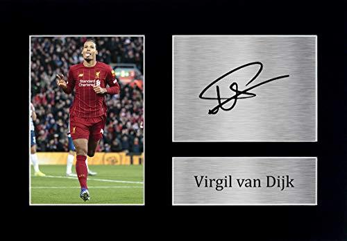 HWC Trading Artículos De Regalo De Virgilio Van Dijk Liverpool Imprimir Imagen La Autógrafos para Los Aficionados Y Seguidores - A4