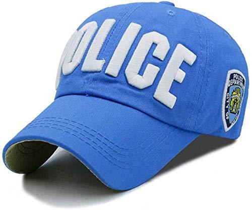 Jiushilun Sombreros Gorra de béisbol Gorra de béisbol Adulto y niño policía Gorra de béisbol Bordado Letra Gorra de Mujer al Aire Libre Casual niñas niños Sombrero-H A