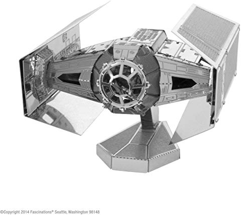 Fascinations- Darth Vader\'s Tie Fighter Maqueta metálica 3D Star Wars, Color plata (MMS253) , color/modelo surtido