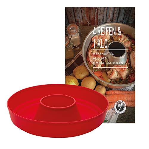 4 Reifen 1 Klo Omnia Silikonform 2-teiliges Spar-Set | Omnia Silikonform 2.0 + Herzhaftes Kochbuch