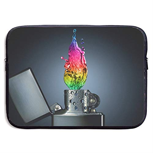 Laptop Sleeve Case Cover Bag, Computer Travel Pocket Pouch Handbag Compatible, Portable Tablet Slipcases Carry Bag for MacBook/HP/Acer/Asus/Dell Colorful Flame Lighter 13 15 inch