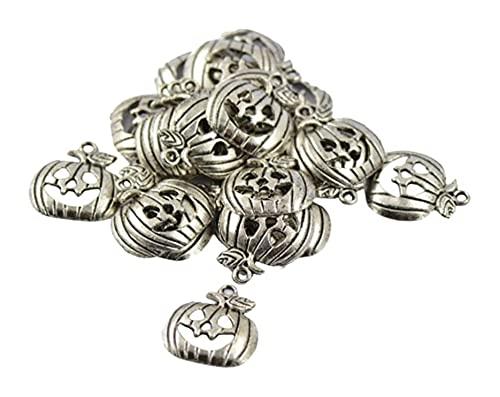 LIXBD 30 colgantes de aleación de Halloween, para Halloween, fiestas, collares, pulseras, accesorios para hacer joyas (antigua)