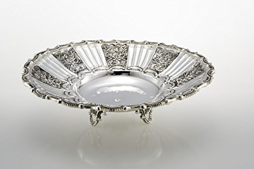 ROYAL QUEEN Bol de Fruits en Argent plaqué Style Sheffield ciselé cod.5291006A cm 10h diam.38 by Varotto & Co.