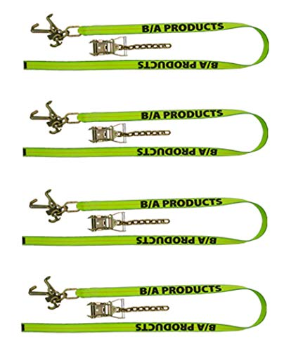 Review Of BA Products Qty. 4, HV38-100-x4, HiViz Strap with R, T, Mini J Cluster Hook and Ratchet wi...