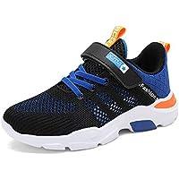 NIIVAL - Zapatillas deportivas para niños, transpirables, con cierre de velcro, para el tiempo libre, unisex, para niños de 28 a 39, color Azul, talla 36 EU Weit