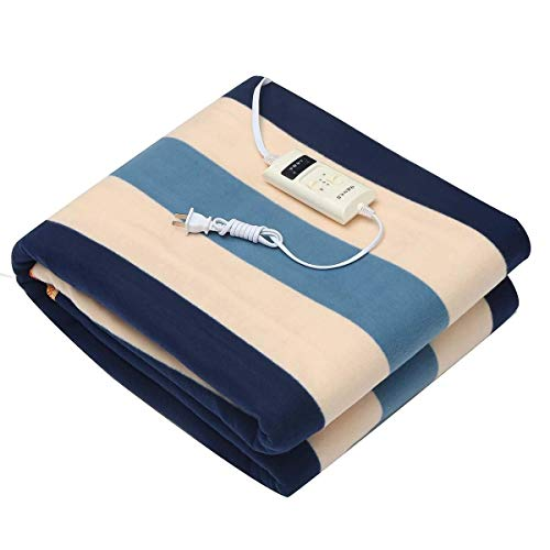 SXFYHXY Manta calefactora Termostato de calefacción eléctrica automática Manta Individual Calentador de Cuerpo Doble Colchón de Cama Alfombras térmicas eléctricas Estera Uso Nocturno (Color: 180 x 1