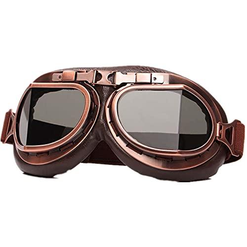 AMFG Gafas de kart gafas en ángulo de cobre a prueba de arena para motocicletas gafas eléctricas para automóviles (Color : A)