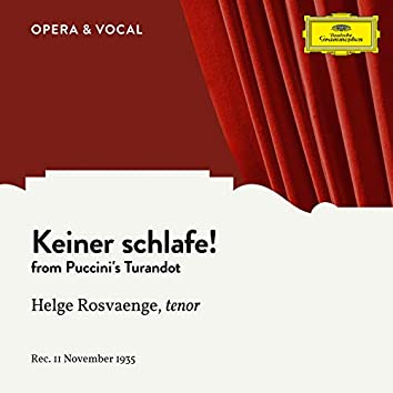 Puccini: Turandot, SC 91: Keiner schlafe! (Sung in German)