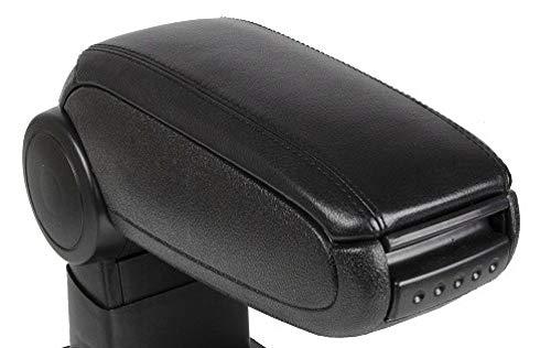 Adatto per VW 2001-2005 Polo IV 9N Bracciolo per auto, Accessori interni per auto Ricambi auto Bracciolo centrale Scatola per console Bracciolo-Nero_Pelle