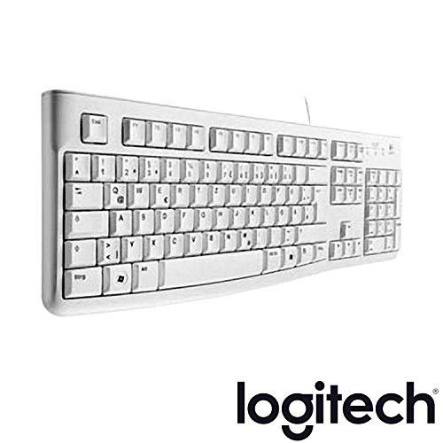 Logitech K120 Business Keyboard, QWERTZ, deutsches Layout (Tastatur, Weiß, 1 Stück)