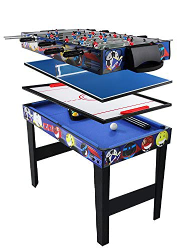 Multi Combo Game Table, vocheer 4 in 1 Game Table Hockey Table Foosball Table with Soccer, Pool Table, Table Tennis Table for Home, Game Room