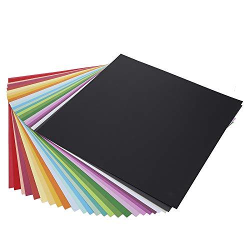 25 piezas de papel de color Origami de 30 x 30 cm, cuadrados de origami de doble cara para artes y manualidades, papel de fondo para álbumes de fotos