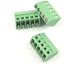 8 Pole DBParts 5pcs 8-Pin Plug-in Screw Terminal Block Connector 2.54mm 0.1 Pitch Panel PCB Mount DIY