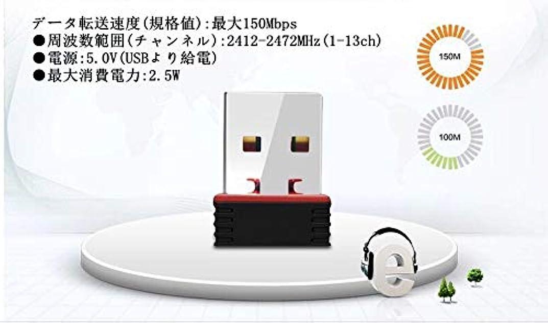 回転あえてパズル無線LAN子機 150Mbps USBWiFi 無線LANアダプター 11n対応