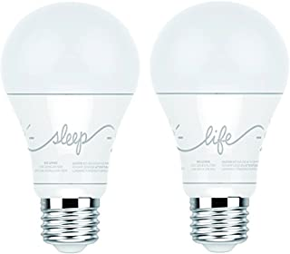 C by GE A19 C-Life and C-Sleep Smart LED Light Bulb Combo by GE Lighting, 2-Pack, Works with Alexa