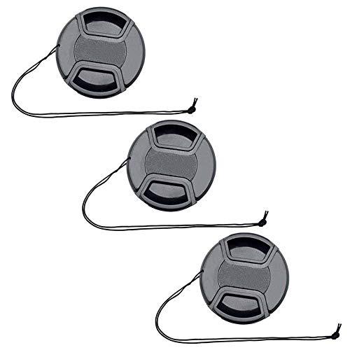 ULBTER 49mm Capuchon Bouchon D'Objectif Cache pour Objectif Sony E-Mount FE 50mm f/1.8,E 55-210mm f/4.5-6.3,E 35mm f/1.8, Objectif E 20mm f/2.8 pour Sony Alpha a6500 a6400 a6300 a6000 a5100 a5000