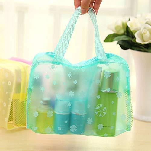 AWJ Packaging Floral Print Transparent Waterproof Makeup Make Up Cosmetic Bag Organizer Toiletry Bathing Luggage