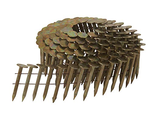 1-1/2 Inch Full Round Head Collated Roofing Nails | 7,200 Count | Metabo HPT 12112HPT