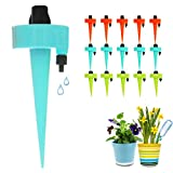 FRECOO Set de riego automático para plantas, sistema de riego ajustable para plantas, flores, riego para plantas en maceta, jardín, plantas de interior y aspersores, kit de 15 unidades