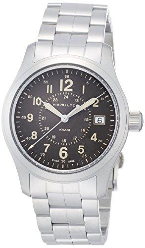 Hamilton Herren Analog Quarz Uhr mit Edelstahl Armband H68201193