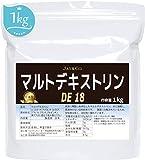 JAY&CO. 高度精製の国内産 (遺伝子組み換えなし) マルトデキストリン DE18 1kg 介護食にもご利用いただけます