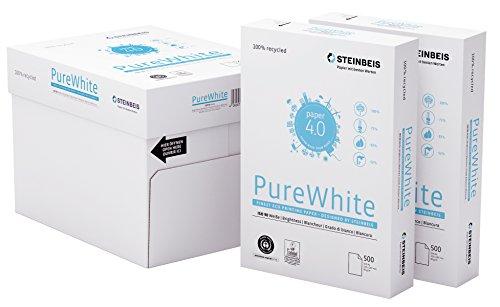 Steinbeis PureWhite DIN A4 - 5 x 500 Blatt - weiß - Multifunktionspapier - 80 g / m²