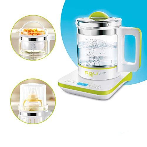 AGU BUBBLY Digitaler Multifunktions (6 IN 1) Wasserkocher Babyflaschenwärmer - Dampfgarer Babynahrung Sterilisator