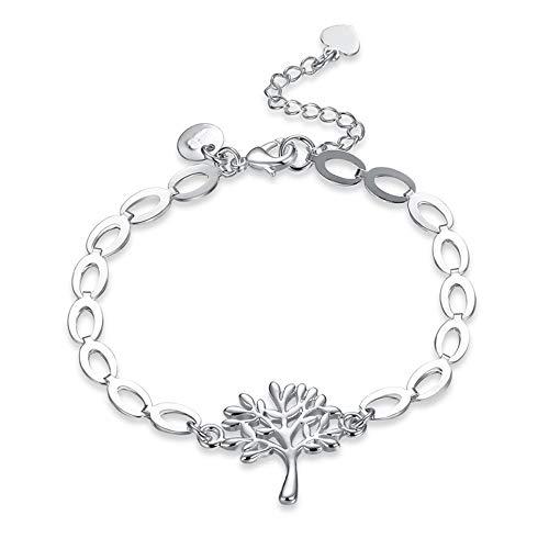 Yarmy Kupfer versilbert Silber Baum des Lebens Armreif Schmuck Frauen Geschenke Liebe Leute