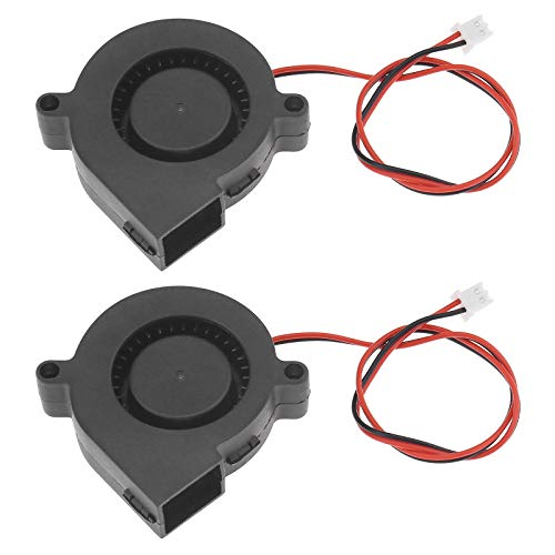 2Pcs Blower Radial Cooling Fan for 3D Printer Humidifier Aromatherapy - 50x15mm (12V 7000 RPM)