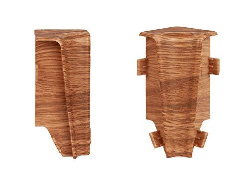 KGM Innenecken für Sockelleiste MEGA-Profil (20 x 58 mm) Eiche rustikal – Maße: 20 x 58 mm – 2 Stück