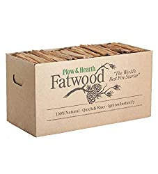 Plow & Hearth Boxed Fatwood Fire Starter All Natural Organic 35 pounds