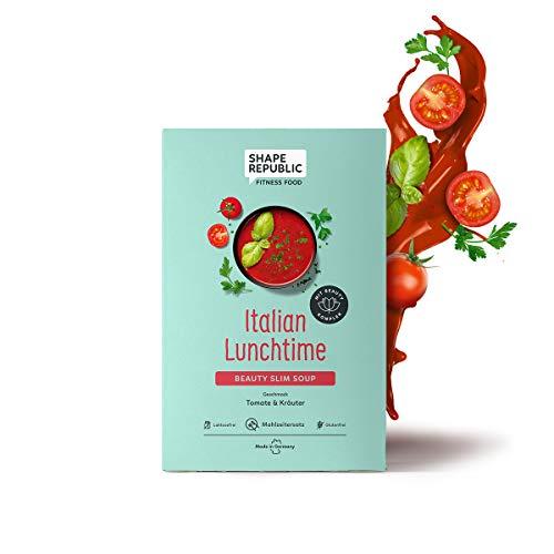 Shape Republic Soupe diététique pour perdre du poids | Tomate & Herbes | Sans lactose | Substitut de repas hyperprotéiné avec 23 vitamines et minéraux précieux | (5 x 60 g)
