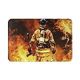 Sli8zhen - Felpudo de bomberos de bomberos para baño, cocina y...
