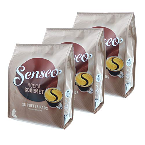 Senseo Kaffeepads Mocca Gourmet, Frisch & Intensiv, Kaffee für Kaffepadmaschinen, 108 Pads