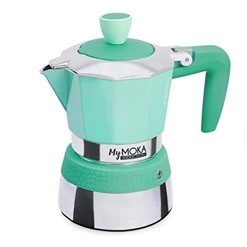 Pedrini-Espressokocher MyMoka Induction MYMOKA INDUCTION 3 Tazze Emerald