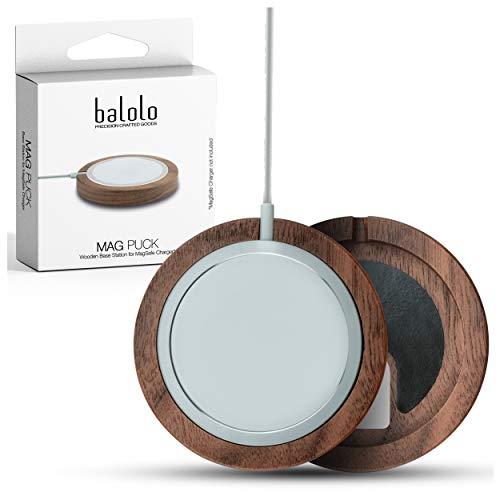 balolo Holz Mag Puck Halter entworfen für MagSafe Ladegerät Charger (Ladegerät Nicht enthalten)