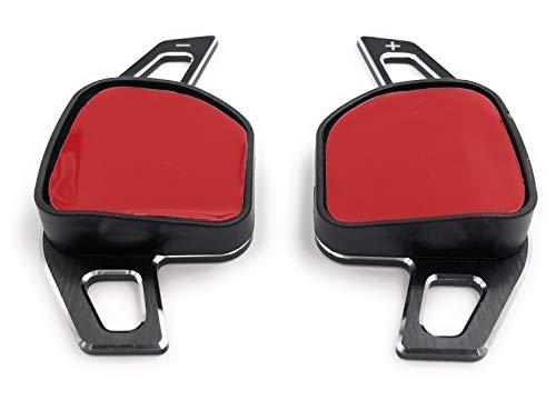 Onlineworld2013 Comandi del Cambio Shift Paddle A1 8x, A3 8V, A4 8K B9, A5 4G C7, A6 C7, A8 4H D4, Q7 4L nero Aluminium