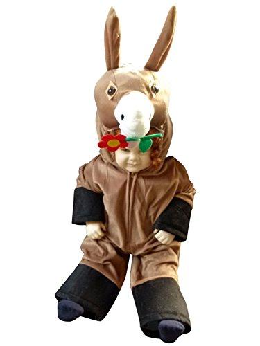 Seruna F11/00 Gr. 80-86 Esel Kostüm für Fasching und Karneval, Kostüme für Baby Babies Kleinkinder, Faschingskostüm, Karnevalkostüm