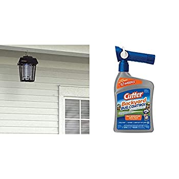 Flowtron BK-15D Electronic Insect Killer 1/2 Acre Coverage & Cutter Backyard Bug Control Spray Concentrate 32-Ounce