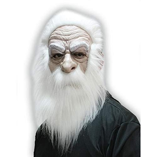 Funpack - MAHAL298 - Masque mage avec cheveux et moustaches blancs