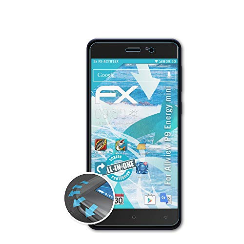 atFolix Schutzfolie kompatibel mit Allview P9 Energy Mini Folie, ultraklare & Flexible FX Bildschirmschutzfolie (3X)