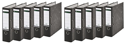 Leitz 1080/1050 Standard Ordner A4 (breit | 10er Pack, schwarz)