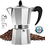Classic Stovetop Espresso Maker for Great Flavored Strong Espresso, Classic...