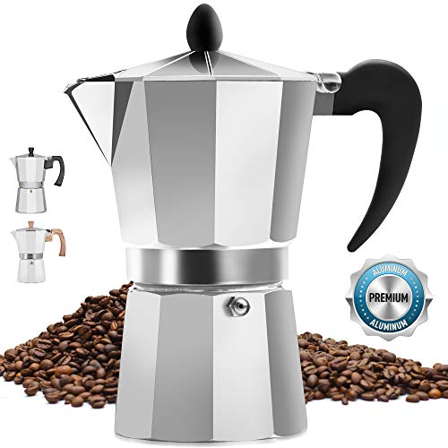 Best Price Classic Stovetop Espresso Maker for Great Flavored Strong Espresso, Classic Italian Style...